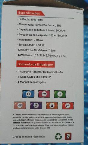 Caixa de som pequena via Bluetooth  - Foto 3