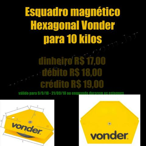 Esquadro Magnetico Hexagonal Vonder para 10 kilos esquadro para solda