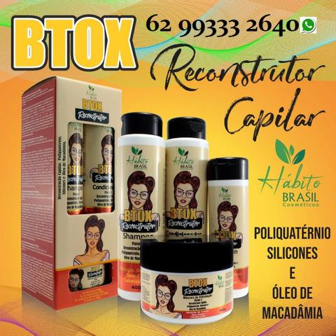 2 Kit B-Tox Reconstrutor Hábito Brasil Cosméticos