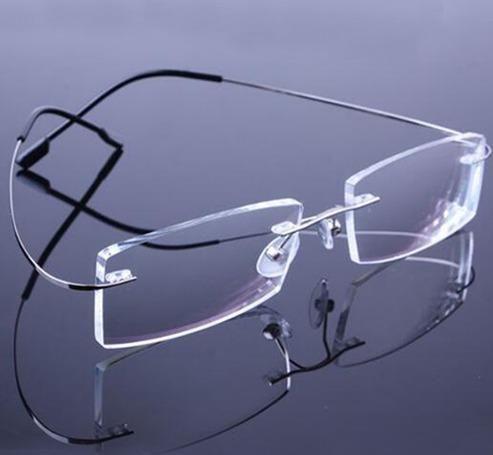 0a61ccc7b Armação Em Titanio P/ Óculos De Grau Sem Aro Várias Cores ...