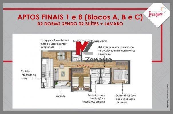 Residencial Imagine - Apartamento em Lançamentos no bairro Lagoa Seca - Santa Bá... - Foto 12