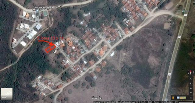 2 lotes 13x18 (total 13x36) no Juracy Palhano. 468 m2 de área