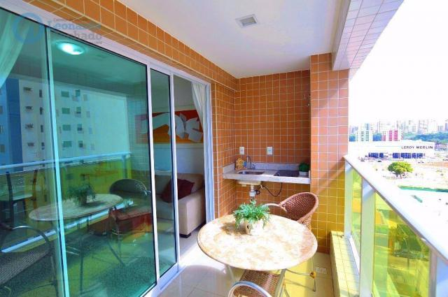 Apartamento com 2 dormitórios à venda, 70 m² por R$ 410.000,00 - Guararapes - Fortaleza/CE - Foto 2