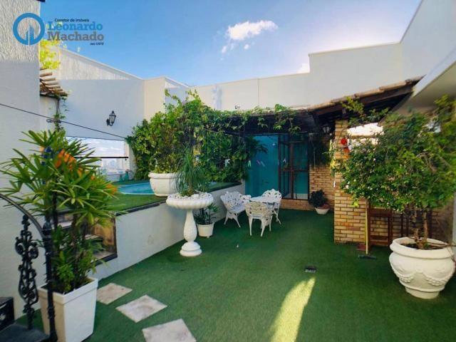 Apartamento Cobertura com 4 dormitórios à venda, 346 m² por R$ 2.500.000 - Meireles - Fort - Foto 15