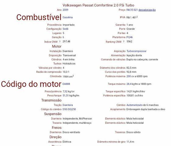 Passat Tsi turbo 2.0 2009 - Foto 8