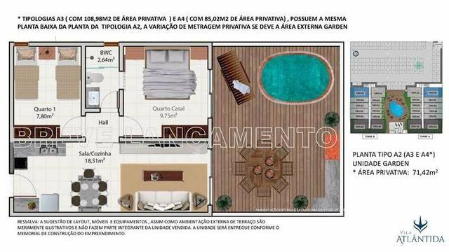 Apartamento em Luiz Correia/ Praia de Atalaia (Vila Atlântida) - Foto 17