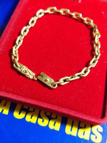 Pulseira ouro 18 kilates- Oca