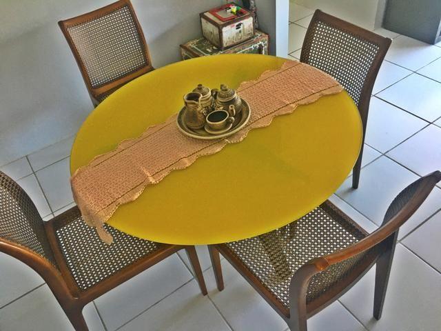 Lindíssima mesa de jantar e e vidro temperado - Foto 3