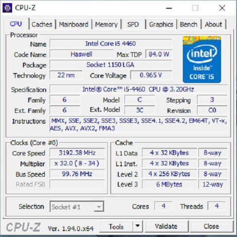 I5 4460, 8gb 1333mhz Hyperx, Gigabyte Ga-b85m-d3ph Lga 1150 Usado!