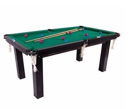 Mesa Sinuca / Bilhar / Snooker 1,87 X 1,08 Tecido Vinho , Verde , Azul e Preto Mdf - Foto 2
