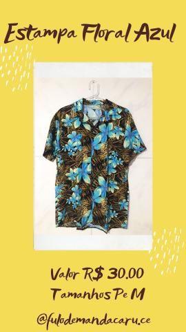 Camisa de Botão R$30 P/M/G - Foto 3