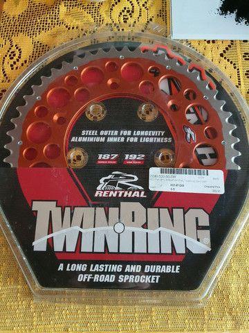 Coroa e Pinhão Renthal Twin Ring Relação Moto KTM, Husaberg - Foto 2