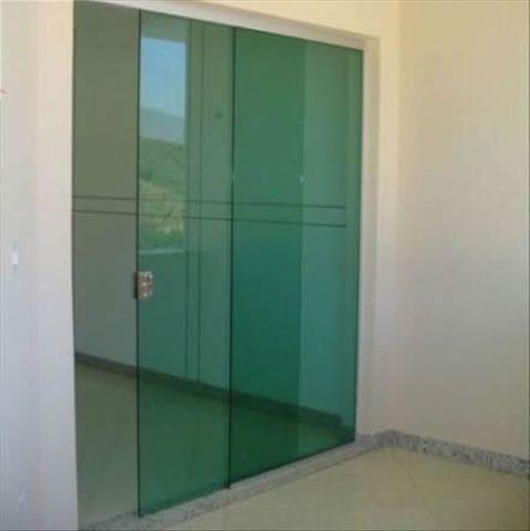 Porta de Correr de Vidro 210x160
