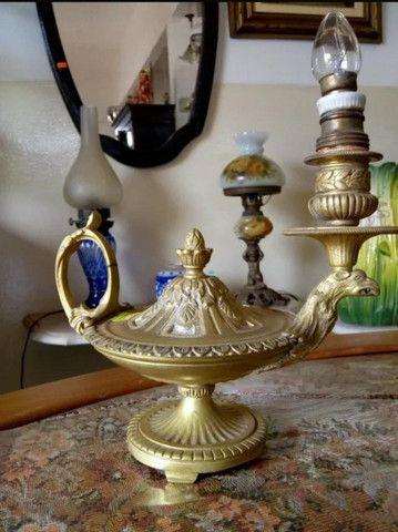 Antiga Lamparina Em Bronze - Foto 3