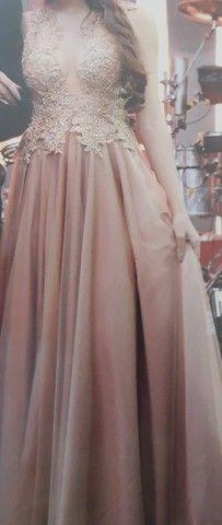 Vendo vestido na cor Nude - Foto 5