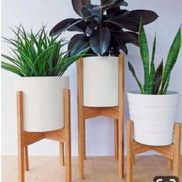 suporte vaso de planta new wood gold
