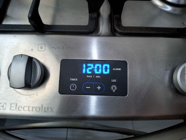 Fogão Electrolux inox 5 bocas 2 fornos modelo TOP DE LINHA