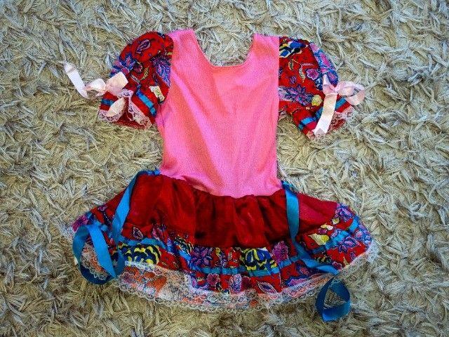 Vestido de festa junina tamanho 3 (para crianças de 2-3 anos) - Foto 2