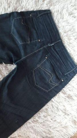 Calça jeans maravilhosa de marca usada 2 vezes super nova número 38