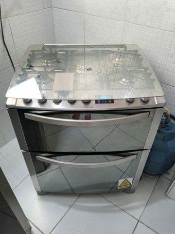 Fogão Electrolux inox 5 bocas 2 fornos modelo TOP DE LINHA - Foto 2