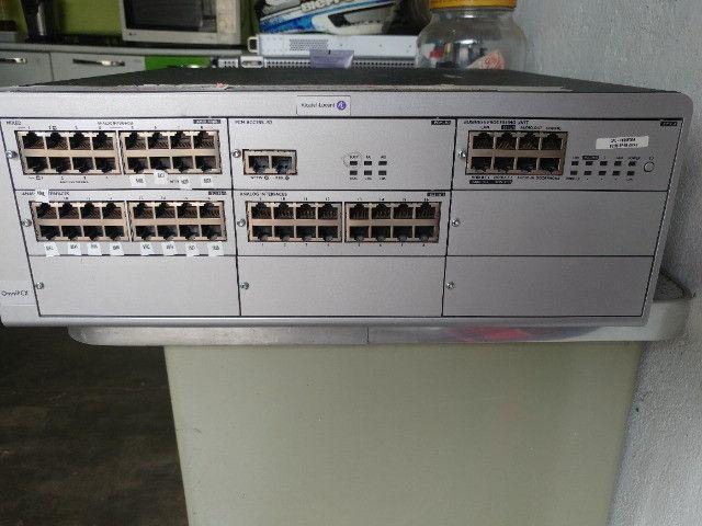 Central Omnipcx Office Com Módulos Alcatel Telefone - Foto 5
