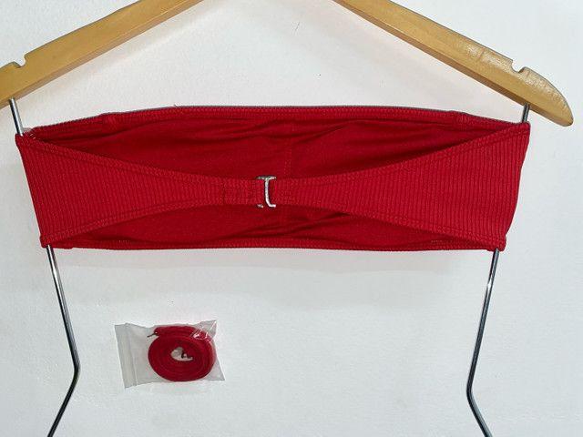 Top Canelado Vermelho - Foto 3