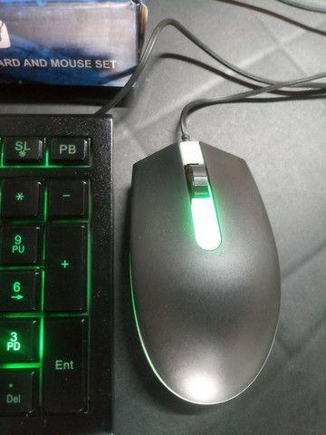 Teclado Gamer com Mouse - Foto 5