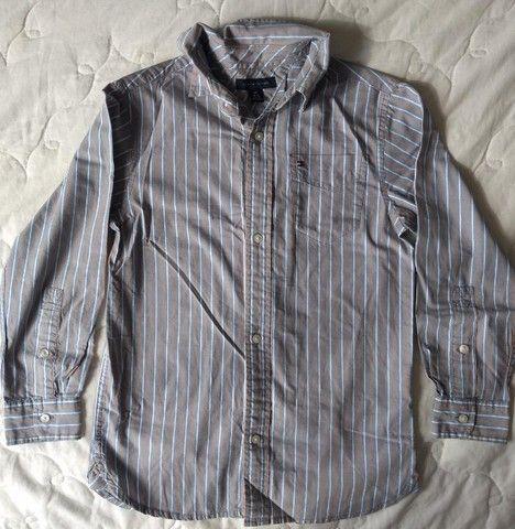 Camisa infantil Tommy Hilfiger tamanho 6/7 - Foto 2
