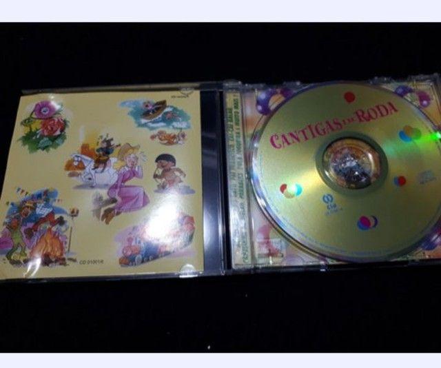Cd Música Infantil Cantigas De Roda Original Oferta - Foto 3