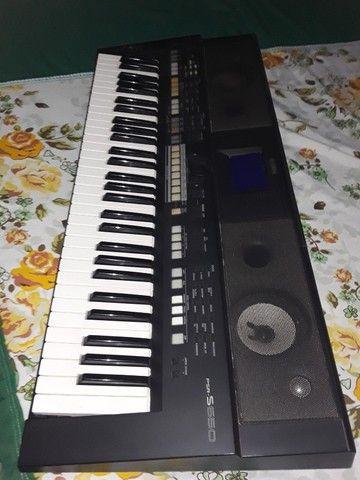 teclado yamaha psr-s650 cor:preto e branco - Foto 3