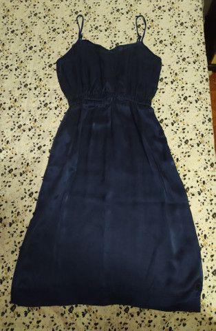 Vendo vestido azul marinho (em estado de novo) - Foto 2