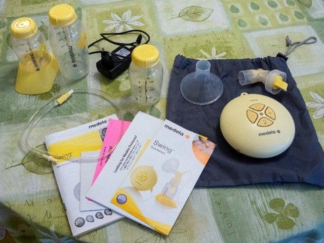 Extrator de leite materno elétrico Medela Swing + brinde