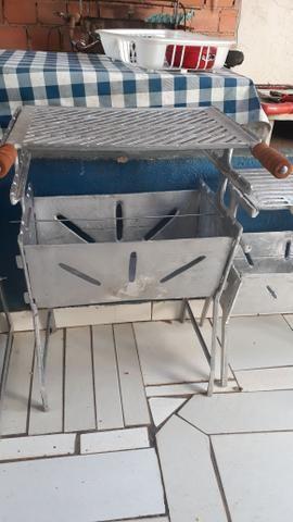 Churrasqueiras de alumínio DESMONTÁVEIS
