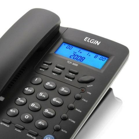 Telefone com Fio Elgin - Identificador De Chamadas [NOVO] - Foto 2