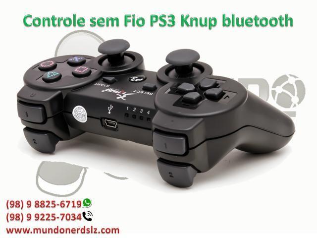 Controle sem Fio PS3 Knup bluetooth em são luis ma - Foto 2