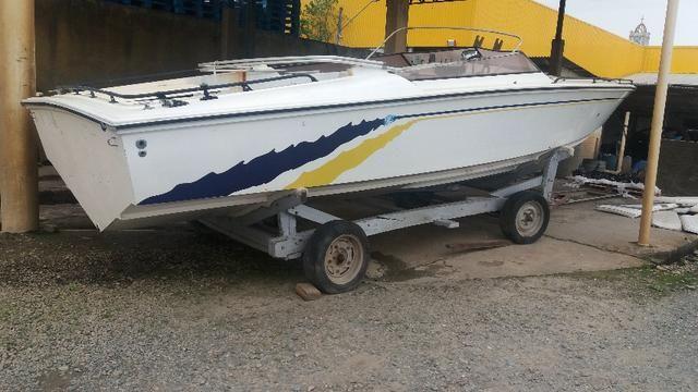 Casco lancha Magnum Offshore 29 pés sem motor sem rabeta documentada - Foto 2