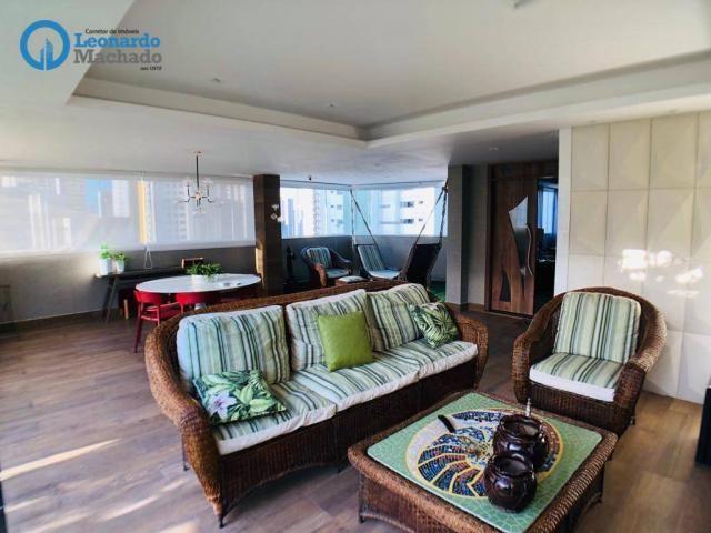 Apartamento Cobertura com 4 dormitórios à venda, 346 m² por R$ 2.500.000 - Meireles - Fort - Foto 13