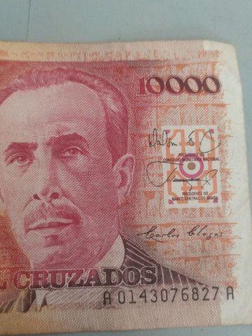 Cédula de 10.000 cruzados com imagem do biólogo Carlos Chagas - Foto 4