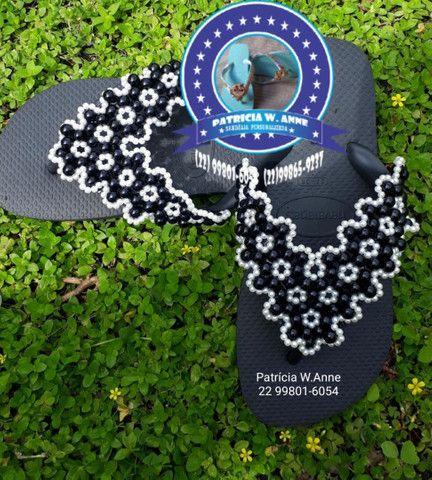 Sandália havaiana personalizada q - Foto 4