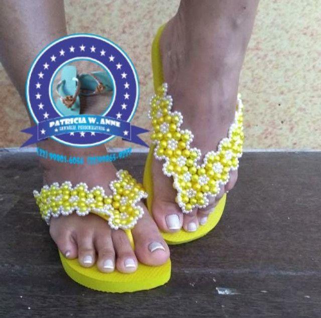 Sandália havaiana personalizada q - Foto 2