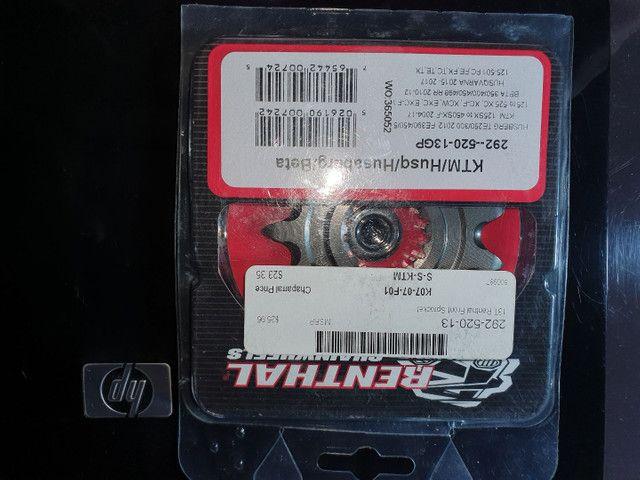 Coroa e Pinhão Renthal Twin Ring Relação Moto KTM, Husaberg - Foto 4