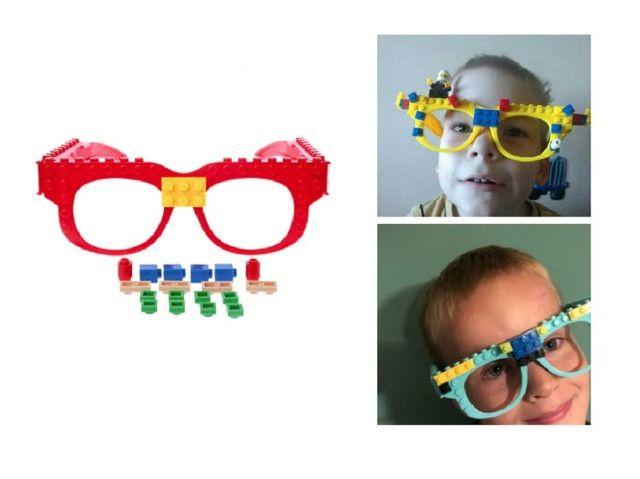 Óculos Lego + Pecinhas De Brinde Bloco De Montar Educativo