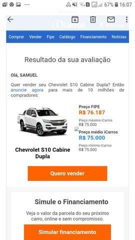 Vendo ou troco S10 Cab. dupla 2013 63.000 R$