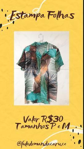 Camisa de Botão R$30 P/M/G - Foto 4