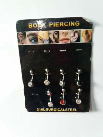 Peça Piercing Aço Cirúrgico-Na Moda-15R$ cada - Foto 6