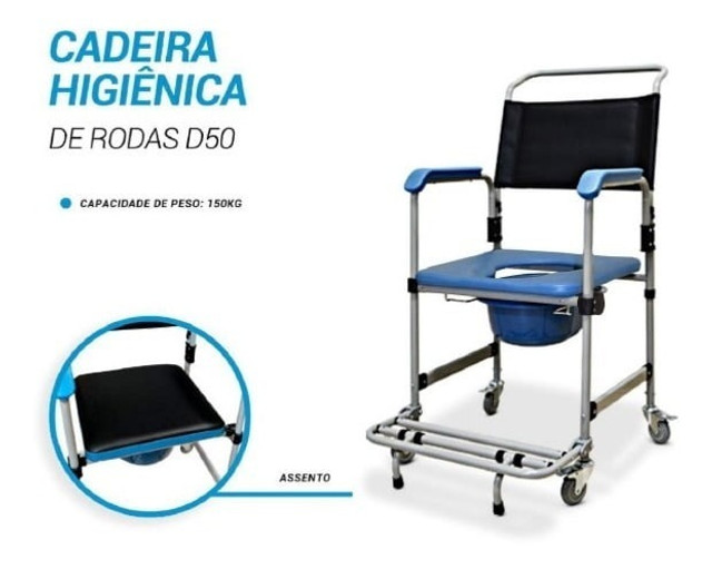 A cadeira de rodas higiênica Dellamed D50