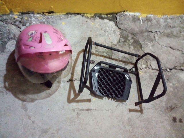 Protetor de carenagem da pop traseiro e capacete  - Foto 2