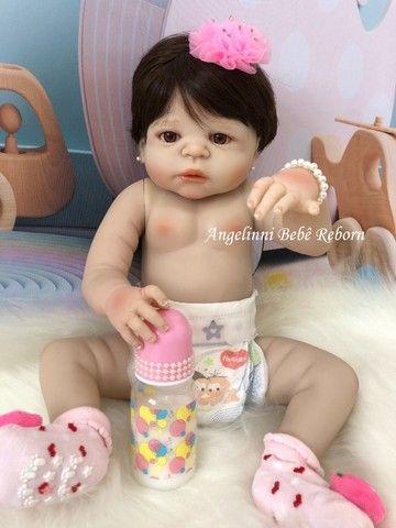 Bebê Reborn Paloma Silicone Pronto Envio! Com Enxoval - Foto 3