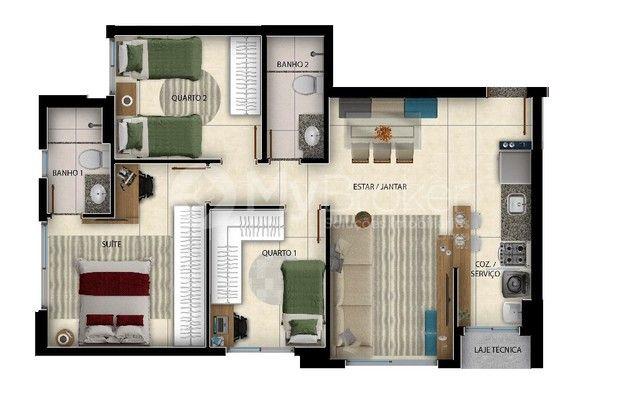 Apartamento  com 3 quartos no DUO SKY GARDEN - Bairro Parque Amazônia em Goiânia
