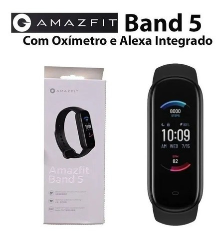 Relógio Amazfit Band 5 Com Alexa Global - A pronta Entrega Imediato - Foto 2